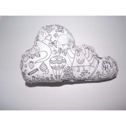 coussin nuage à colorier DESERT