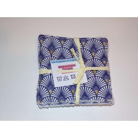 Lingettes Ecailles bleus (Lot de 4)